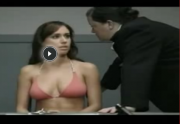 FUNNY: Bikini girl harshly interrogated by the police