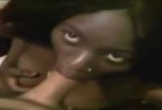 African girl fucks white tourist and swallows his cum