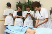 Beauty clinic massage and hanjobs - with English subtitles