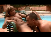 Hot Brazilian fucked by the pool