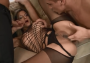 Czech MILF takes two
