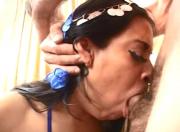 Arab MILF Rassha deep throat and fucked in all holes