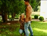 Blonde Czech Teen Nathaly Sucks and Fucks the Gardener