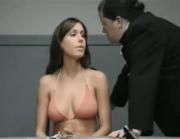 Bikini girl harshly interrogated by the police