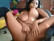 Hot Columbian Huge Tits - Masturbation On Webcam - Shanie Love