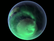 Aurora Australis Shows South Polar Opening to Hollow Earth