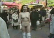 Japanese Babe Naked on Crowded Tokyo Street