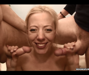A Fit Blonde Euro Milf Gets Two Hard Young Dicks
