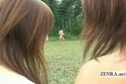 Japanese Nudists have outdoor handjob and blowjob orgy