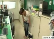 Japanese teen begins work as an office cleaner