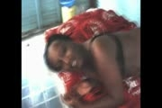 Kenyan girl gives massage and blowjob